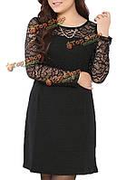 Женщины плюс размер цветка выдалбливают фигурист платье