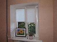 Рулонные шторы на окнах лен, фото 1