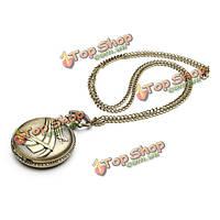 Ретро Мультфильм самолет цепи ожерелье унисекс карманные часы