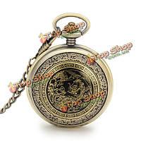 Винтаж Летающий орел цепи аналоговые ожерелье унисекс карманные часы