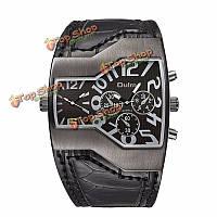 OULM 1220 мужчины военные часы двойной Японии Movt кварцевые часы скачками набора