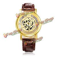 Римская бизнес случайный полые ри ремешок аналоговые наручные часы