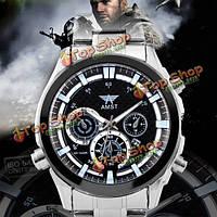 Amst am3007 световой указатель из нержавеющей стали группы мужчин аналоговый спортивные часы