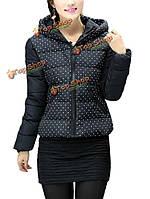 Женщины пальто вниз хлопка мягкие точка пальто куртки