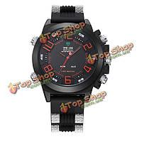Weide 5202 LED Цифровой автоматический сигнал тревоги дата водонепроницаемый мужчин аналоговый спортивные часы