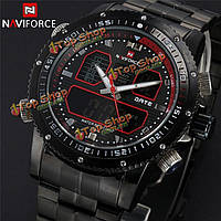Аналог naviforce 9023 LED цифровые наручные часы мужчин полосы нержавеющей стали