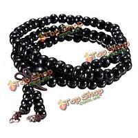 108 черного дерева и сандалового дерева из бисера ожерелье из бисера браслет буддийские молитвы