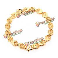 Старинные золотые выдолбить в форме сердца браслет ювелирные изделия