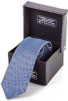 Оригинальный мужской шелковый галстук ETERNO (ЭТЕРНО) ETEG679 синий