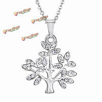 Серебряный кристалл горный хрусталь сердце письмо луна ключицы цепи ожерелье женщин
