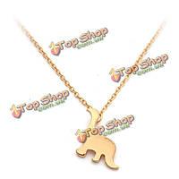 Золотые серебряные маленькие милые драгоценности ожерелья женщин динозавра животных