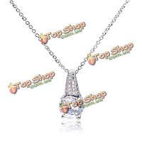 Итальянском кристалл кубического циркония кулон ожерелье ювелирных изделий венчания