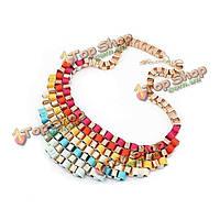 Сплав ленты сплести ожерелье коренастый заявление ожерелье колье