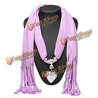 Сердце кулон ожерелье женщин ювелирные изделия осень зима шарф с кистями