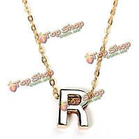 Позолоченные буквы алфавита именем кулон цепи ожерелье мужская ювелирные изделия