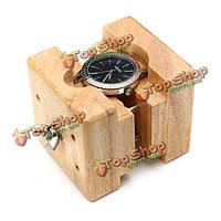 Деревянный корпус часов держателем движение отремонтировать инструмент часовщика