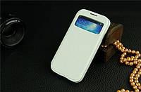 Чехол книжка для Samsung Galaxy SIV S4 I9500 белый цвет