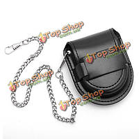 Искусственная кожа карманные часы Box держатель кошелек случае мешок хранения мешок цепи