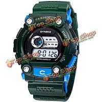 Synoke 88888 световой водонепроницаемый цифровой спортивные часы