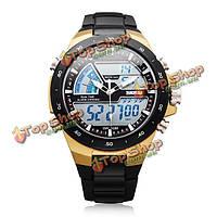 Вахта 1016 спорт аналоговый цифровой черный mlilitary Дата недели мужские часы