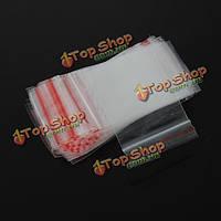 100шт многократно ясные серьги ювелирные изделия пластичные ziplock мешки