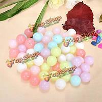 Смешать 100г конфеты цветные акриловые spacer свободных шариков DIY ювелирных аксессуаров