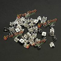 50шт серебро серьги бабочки резервное пробки ювелирные изделия earnuts шпильки