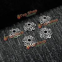 S925 Sterling серебро старинные ретро цветок бисер DIY дизайнерских находок ювелирных изделий