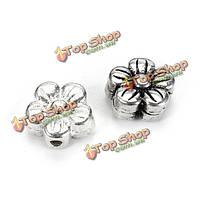 S925 Sterling серебро цветка год сбора винограда шариков прокладки браслет ожерелье поделок аксессуары