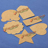 100шт крафт-бумага коричневый Card свадьба пользу пунш Лейбл цена