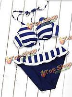 Сексуальная флота зебры полосатые женские купальники купальники