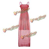 Женское ремни шифон длинное платье макси Флора женственное коктейльное платье