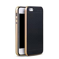 Чохол бампер Ipaky для iPhone 5 / 5S / SE золотий, фото 1