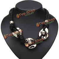 Двойной пеньковая веревка коренастый цепи кулон ожерелье ювелирные изделия