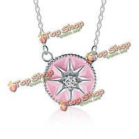 Женщины 925 серебряные эмали кулон ключицы ожерелье ювелирных изделий