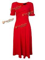 Элегантный тонкий с высокой талией красивое туника платье для женщин