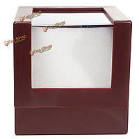 Пластиковый корпус ювелирных изделий дисплей серьги прозрачный наручные часы держатель ящик для хранения