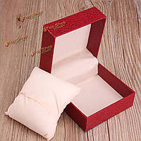 Часы ювелирные изделия браслет бумага картон кейс подарок дисплей ящик для хранения красный черный