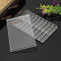 Кейс коробка из прозрачного пластика для хранения 18 сетки для часов контактный винтовой пружины бар шарик