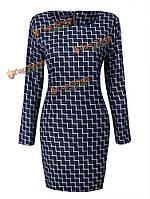 Платье с длинным рукавом повседневное тонкое