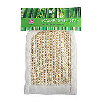 Мочалка для душа Рукавица 20х14.5 см сизаль/бамбук