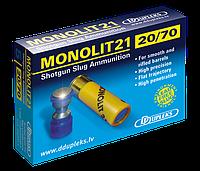 Патрон D Dupleks Monolit 21 кал. 20/70 пуля Monolit масса 19.5 г