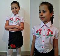 Блузка-вышиванка для девочки №611 (р.116-134)