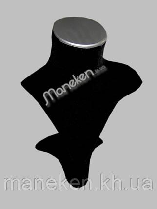 Бюст для ювелирных изделий флоп на подставке  с металлическим элементом, фото 2