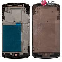 Рамка крепления дисплея для LG E960 Nexus 4, оригинал (черный)