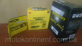 Аккумулятор для мотоцикла гелевый MOTOBATT  AGM 11Ah 140A  размер 136 х 76 х 139/148/154 мм с проставкой  MB9U