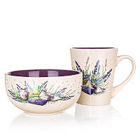 Набор посуды для завтрака banquet 60hh1433l lavender