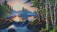 """Схема для вышивки бисером """"Водопад в лесу"""""""