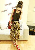 BG-impression® женской моды повседневное шелковые ткани леопарда жилет платье