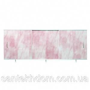 """Екран під ванну """"Ода"""" універсал(150-50) світло-рожевий."""